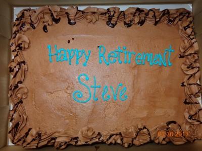 Brooks Retirement Cake